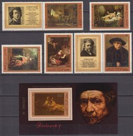 Russia, USSR 25.11.1976 Mi # 4551-55 Zf, Bl 116, Rembrandt's 370th Birthday MNH OG - Nuevos