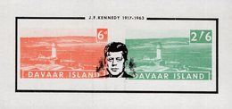 Great Britain - Davaar Island - 1963 - Lighthouse Of Davaar - Overprint J.F. Kennedy - Imperforated Souvenir Sheet - Emisiones Locales