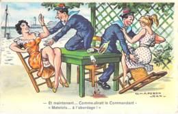 MILITARIA - HUMOUR Humor ( Marine Marin ) Et Maintenant ... A L'abordage ... CPSM PF Fantaisie Dentelée Postée 1962 - - Humour