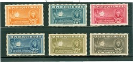 La Crête à Pierrot; Timbres Scott Stamps # 349-354; Neufs Avec Trace De Charnière / Mint With Trace Of Hinge. (6870) - Haïti