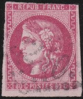 France  .   Yvert   .     49    (2 Scans)  .       O         .       Oblitéré - 1870 Bordeaux Printing