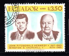 Ecuador 1967 Mi Nr 1379, Kennedy En Churchill - Ecuador