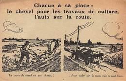 "CPA Michelin & Cie - Clermont-Ferrand "" CHEVAL Et AUTO "" - Clermont Ferrand"
