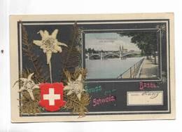 SUISSE - Gruss Aus Der BASEL ( BALE ) Schweiz - Ajout D' Edelweis Sechés - BS Bâle-Ville