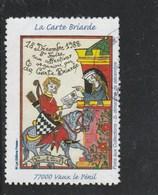 VIGNETTE OBLITERE LA CARTE BRIARDE 1988 FOIRE AUX COLLECTIONS VAUX LE PENIL - Filatelistische Tentoonstellingen