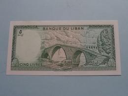 CINQ LIVRES > Banque De LIBAN ( For Grade, Please See Photo ) ! - Libanon