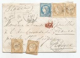 """- SEINE - PARIS - Etolie N°8 S/paire + Deux Du TP N°59 Un TP N°60 + """"PD"""" Rouge + Càd T.17 - 1871 - 1871-1875 Ceres"""