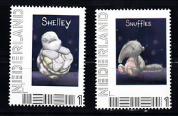 Nederland Persoonlijke Zegel: Schildpad, Turtle, Shelley + Olifant, Elephant, Snuffles - Neufs