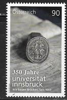 AUSTRIA, 2019, MNH, EDUCATION, 350th  ANNIVERSARY OF INNSBRUCK UNIVERSITY, 1v - Stamps