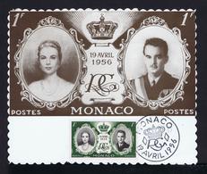 RAINIER III Prince MONACO + GRACE KELLY 1956 MAXIMUM CARD Célébrités Kings Gc4163 - Case Reali