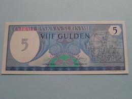 5 > Vijf Gulden : Centrale Bank Van SURINAME - 1 April 1982 ( 0029205621 ) > ( For Grade, Please See Photo ) ! - Surinam