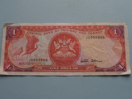 ONE DOLLAR ( JU956866 ) Central Bank Of Trinidad And Tobago ( For Grade, Please See Photo ) ! - Trinité & Tobago