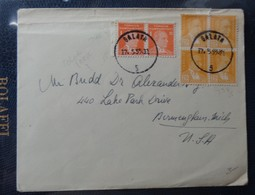 1955 - COVER -  GALATA, TURKIYE To U.S.A. - Cartoline