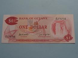ONE DOLLAR $ ( B/23 376716 ) Bank Of GUYANA ( For Grade, Please See Photo ) ! - Guyana