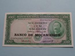 100 Cem ESCUDOS Lisboa De Mar 1961 ( C59762567 ) Banco De Moçambique ( For Grade, Please See Photo ) ! - Moçambique