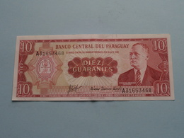 Diez GUARANIES 10 ( A31653468 ) Banco Central Del Paraguay ( For Grade, Please See Photo ) ! - Paraguay