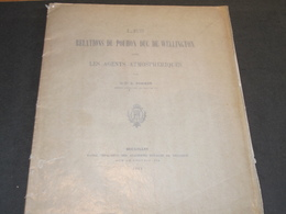 SPA - LES RELATIONS DU POUHON DUC DE WELLINGTON AVEC LES AGENTS ATMOSPHERIQUES PAR LE DR A POSKIN BXL 1911 - Culture
