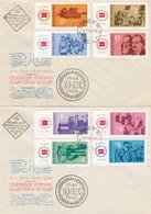 Bulgarie 1964 - 20 Ann. De La Republique, 8 V. (2 Enveloppes), FDC - FDC