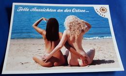"""PIN-UP Post Card """"Tolle Aussichten An Der Ostsee: Sexy Girls - Nude Butt"""" Jolie Jeune Femmes / Nice Young Women [19-977] - Pin-Ups"""