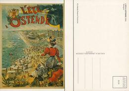 L'été à Ostende Reproduction D'affiche De 1894- Collection Florizoone - Oostende