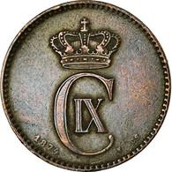 Monnaie, Danemark, Christian IX, 2 Öre, 1874, Copenhagen, TTB, Bronze, KM:793.1 - Danemark
