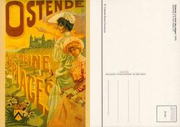 Ostende Reine Des Plages - Reproduction D'affiche De 1905- Collection Florizoone - Oostende