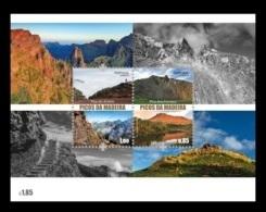 Portugal (Madeira) 2017 Mih. 377/78 (Bl.68) Mountains. Madeira's Peaks MNH ** - Madeira