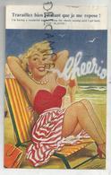 """A La Plage. Jeune Femme Fume:"""" Cheerio"""" - Taylor"""