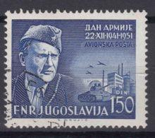 Yugoslavia Republic 1951 Airmail Mi#676 Used - 1945-1992 Repubblica Socialista Federale Di Jugoslavia