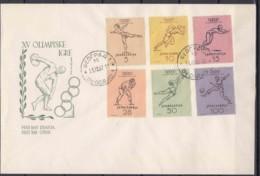 Yugoslavia Republic Olympic Games In Helsinki 1952 Mi#698-703 FDC - 1945-1992 Repubblica Socialista Federale Di Jugoslavia
