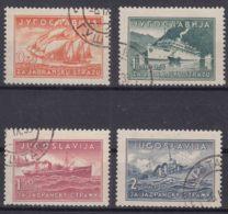 Yugoslavia Kingdom 1939 Ships Mi#385-388 Used - 1931-1941 Reino De Yugoslavia