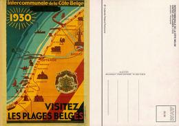 Intercommunale Des La Côte Belge Visitez Les Plages- Reproduction D'affiche De 1929- Collection Florizoone - Autres