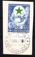 Yugoslavia Republic 1953 Esperanto Mi#730 Used Cut Square - 1945-1992 Repubblica Socialista Federale Di Jugoslavia