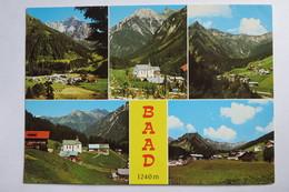 """(11/2/97) Postkarte/AK """"Baad"""" Kleinwalsertal, Mehrbildkarte Mit 5 Ansichten - Kleinwalsertal"""