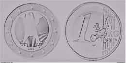 MONNAIE 1 Euro  2002 F  Euro Fautée Error Acier Etat Superbe - Variétés Et Curiosités