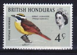 British Honduras 1967 Single 4c Stamp From The Queen Elizabeth Bird Definitive Set. - British Honduras (...-1970)