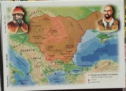 Bulgaria - Map Of Bulgaria - Period 803 - 814 Years - Landkarten