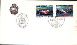 13242a)F.D.C.SAN Marino    Gran Premio San Marino Di Formula 1 - 20 Aprile 1983 - FDC