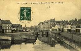 59 LILLE LE QUAI DE LA BASSE DEULE L'HOSPICE GENERAL / A 550 - Lille