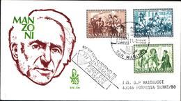 13243a)F.D.C.SAN Marino    Bicentenario Della Nascita Di Alessandro Manzoni - 11 Settembre 1985 - FDC