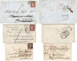 AR206) GREAT BRITAIN Lot Of 3 Letters Redirected - ...-1840 Precursori