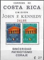 1965 Cost Rica Mi.Bl. 8 A  **MNH  John F. Kennedy. - Costa Rica