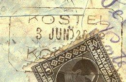 SLOVENIA - JUGOSLAVIA - POSTAL  AGENCY KOSTEL  KOČEVJE  D. KRANJSKA  - 1926 - EXTREM RARE - Slovenia