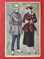 1920 - Illustrateur COLOMBO - DAME EN MAN MET ZWEEPJE - PAARDRIJDEN ? - FEMME ET HOMME AVEC FOUET - EQUITATION ? - Colombo, E.