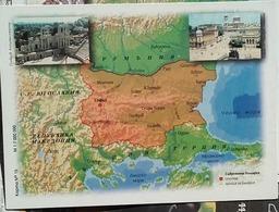 Bulgaria - Map Of Bulgaria - Period After 1945 Years - Landkarten