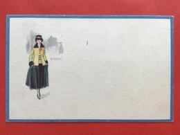 1921 - Illustrateur MAUZAN - DAME MET GELE JAS EN HOED - FEMME AU MANTEAU JAUNE ET CHAPEAU - Mauzan, L.A.