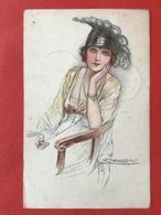 """1920 - Illustrateur MAUZAN - CHARLESTON DAME MET SPECIALE HOED - FEMME """"CHARLESTON"""" CHAPEAU UNIQUE - Mauzan, L.A."""