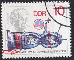 GERMANY DDR [1978] MiNr 2360 F8 ( O/used ) Raumfahrt Plattenfehler - DDR