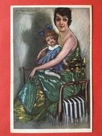 Illustrateur MAUZAN - MOEDER EN KIND MET STRIK - MAMAN ET ENFANT AVEC NOEUD - Mauzan, L.A.