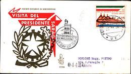 13245a)F.D.C.SAN Marino   Visita Del Presidente Saragat A San Marino - 25 Novembre 1965 - FDC